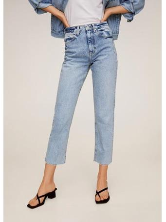 MANGO - Straight Crop Jeans TC-LIGHT-BLUE