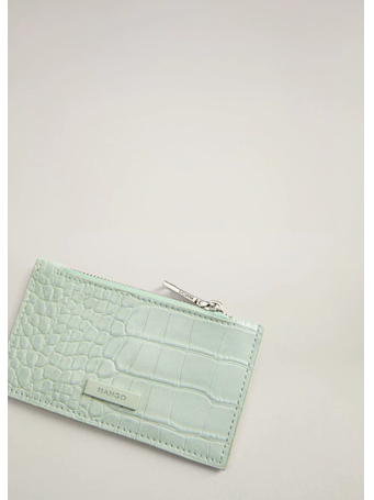 MANGO - Croc-Effect Cardholder {#color}