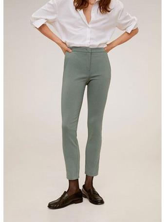 MANGO - Crop Skinny Pants 40-GREEN