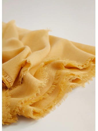 MANGO - Frayed Edge Scarf 11-LY-YELLOW