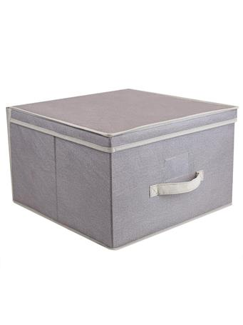 HOME BASICS - Kensington Storage Box  GREY