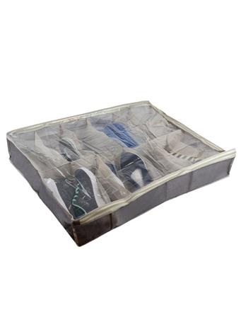HOME BASICS - Kensington Underbed Shoe Organizer  GREY