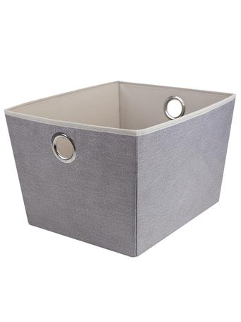 HOME BASICS - Kensington Storage Tote GREY