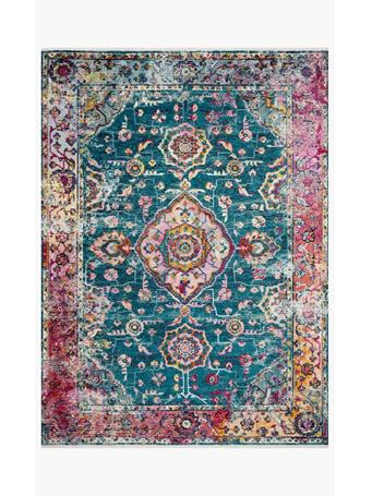 JUSTINA BLAKENEY - Teal/Berry Rug - Silvia Collection  . TEALBERRY