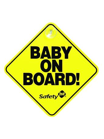 SAFETY 1ST - Baby On Board Sign  No-Color