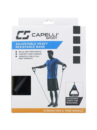 CAPELLI - Heavy Adjustable Resistance Band BLACK