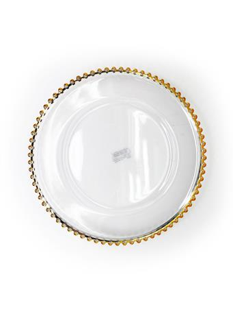 Beaded Edge Plate Charger GOLD