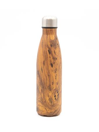 32°N - Stainless Steel Insulated 17oz/ 500ml Water Bottle in Wood Grain NATURAL
