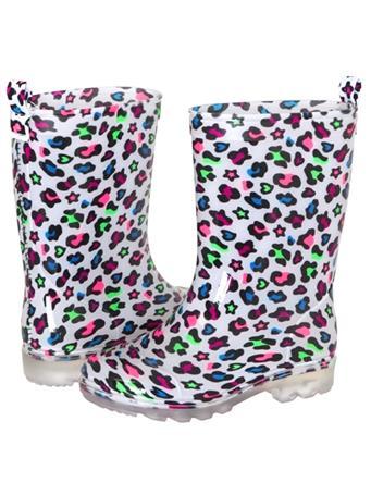 CAPELLI - Leopard Print Rain Boot WHITE