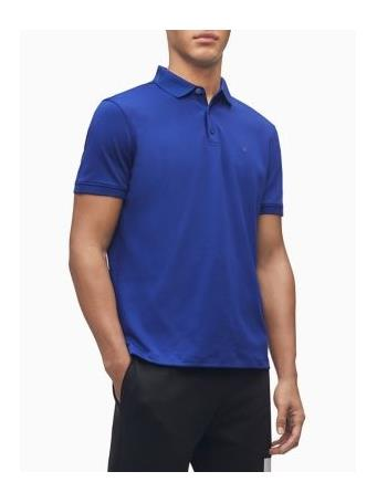 CALVIN KLEIN - Liquid Touch Polo in Regular Fit KINETIC