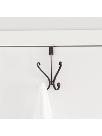 HOME BASICS - Rounded Knob Over The Door Hanging Hook BRONZE