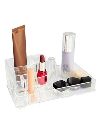 HOME BASICS - Acrylic Cosmetic Organizer CLEAR