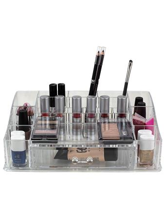 HOME BASICS - 2 Tier Acrylic Cosmetic Organizer CLEAR