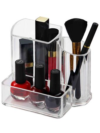 HOME BASICS - Acrylic Brush Holder CLEAR