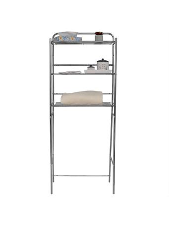 HOME BASICS - 3 Tier Steel Space Saver CHROME