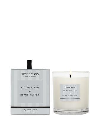 STONEGLOW - Modern Classics Silver Birch & Black Pepper Candle NO-COLOUR