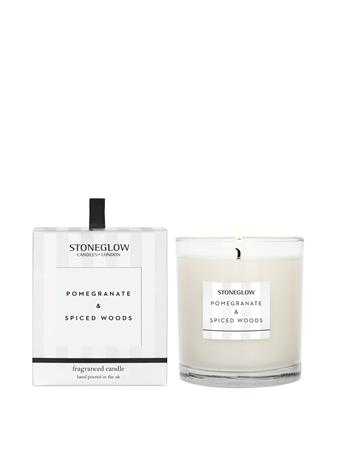 STONEGLOW - Modern Classics Pomergranate & Spiced Woods Candle  NO-COLOUR