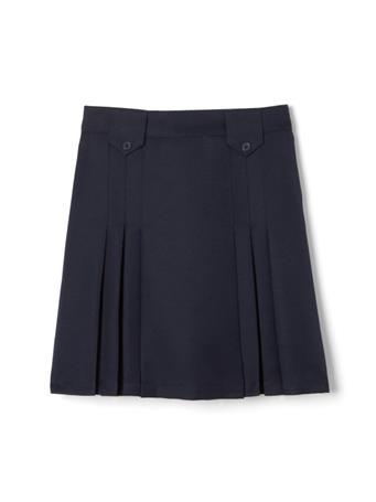 FRENCH TOAST - Adjustable Waist Front Tab Pleated Skirt NAVY