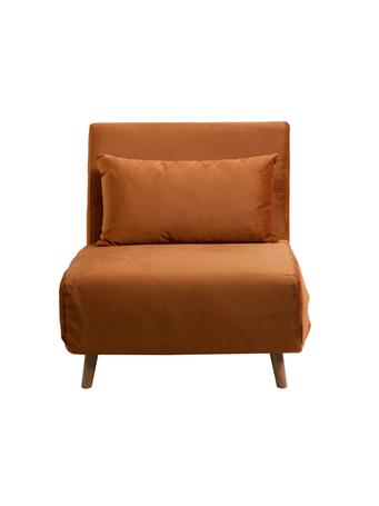 PARK SLOPE - Convertible Sleeper Chair CR-15 ORANGE