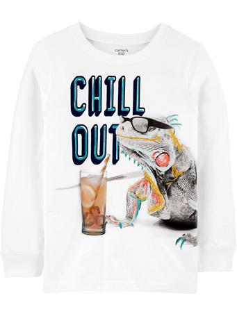 CARTER'S - Long Sleeve Chill Out Tee  NOVELTY