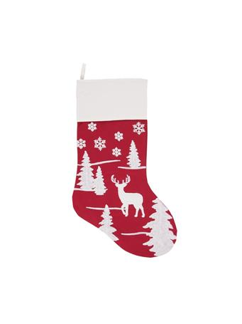 C&F - Sleigh Ride Stocking RED