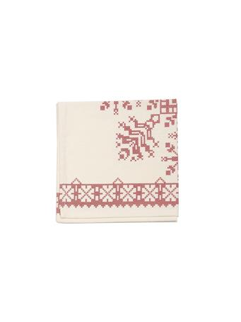 C&F - Cross Stitch Snowflake Napkin WHITERED