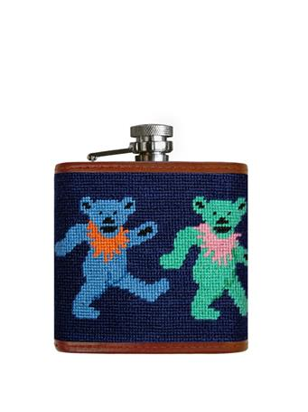SMATHERS & BRANSON - Dancing Bears Flask NAVY