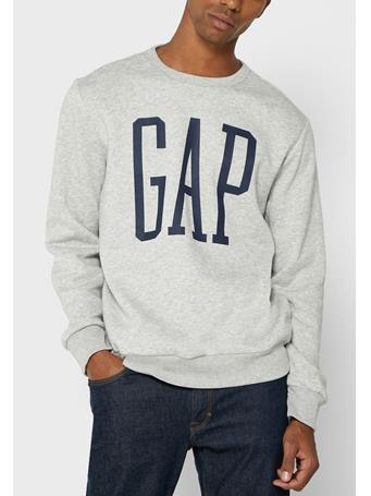 GAP - Logo Sweatshirt LIGHT HEATHER GREY B08