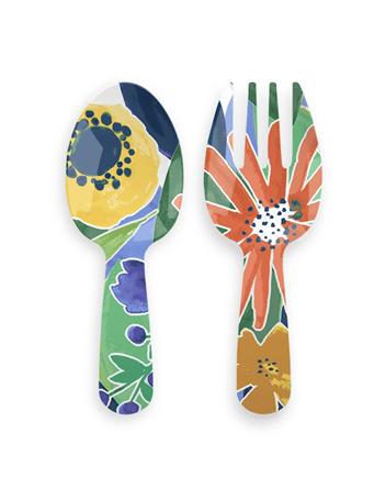 TARHONG - Midsummer Floral Serving Utensils - Set of 2 {#color}