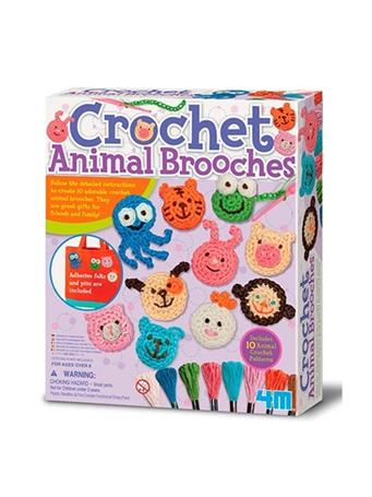 Crochet Animal Brooches Kit NO-COLOR