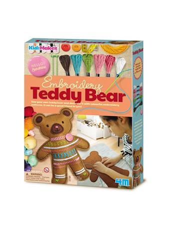 Kidz Maker Embroidery Teddy Bear NO-COLOR