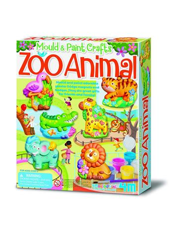 Mould & Paint Zoo Animals Craft Kit {#color}