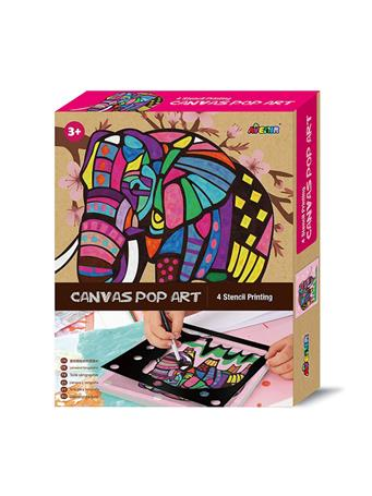 Canvas Pop Art Elephant Craft Set NO COLOR