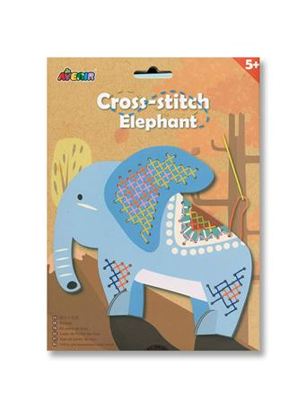 Cross Stitch Elephant Craft Set NO COLOR
