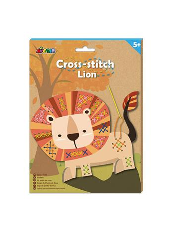 Cross Stitch Lion Craft Set NO COLOR