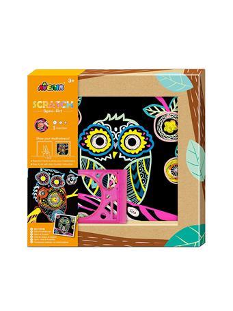 Scratch Spiro-Art Owl Craft Set NO-COLOR