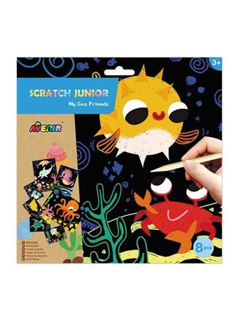 Scratch Junior My Sea Friends Craft Set NO-COLOR
