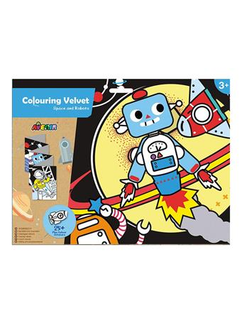 Colouring Velvet Space and Robots Craft Set NO COLOR