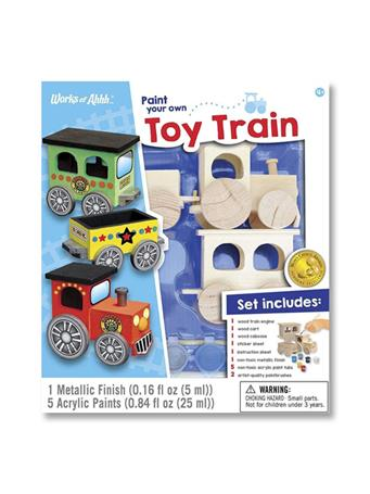 WORKS OF AHHHH Toy Train Paint Kit {#color}