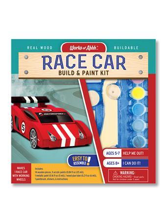 WORKS OF AHHHH Race Car Build & Paint NO-COLOR