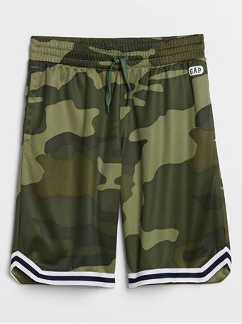 GAP - Kids Pull-On Jersey Shorts GREEN-CAMO