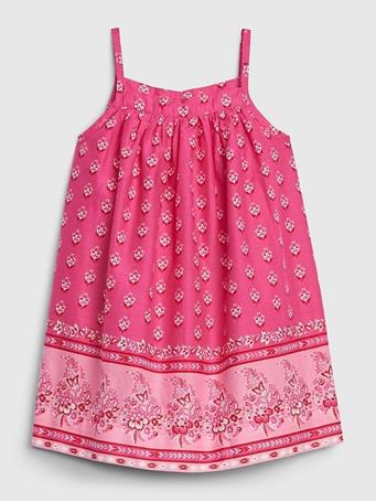 GAP - Baby Sleeveless Dress SIZZLING-FUCHSIA