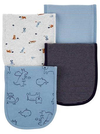 CARTER'S - 4 Pack Burp Cloths  MULTI