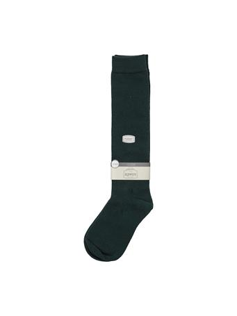Flat Knit Knee High Socks HUNTER-GREEN