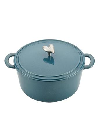 AYESHA CURRY COLLECTION - 6Qt. Cast Iron Enamel Covered Dutch Oven TEAL