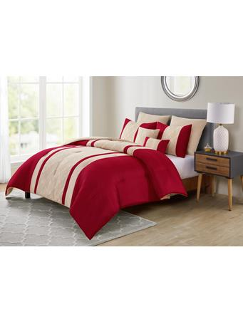VCNY - Angela 7 Piece Comforter Set RED/GOLD