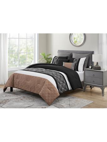 VCNY - Courtney 7 Piece Comforter Set BLACK/TAUPE