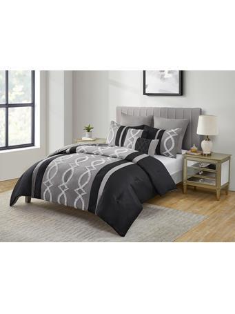 VCNY - Lisa 7 Piece Comforter Set BLACK/SILVER