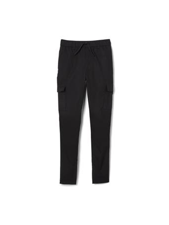 FRENCH TOAST - Slim Fit Pull-On Cargo BLACK