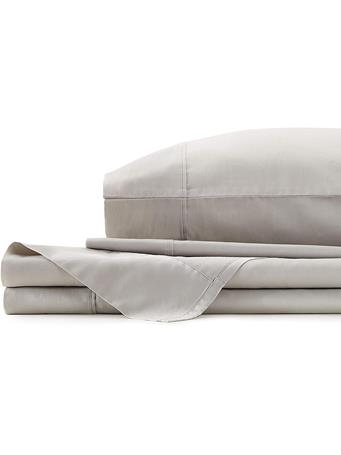 AYESHA CURRY  - 300 Thread Count Solid Sateen Sheet Set GRAY